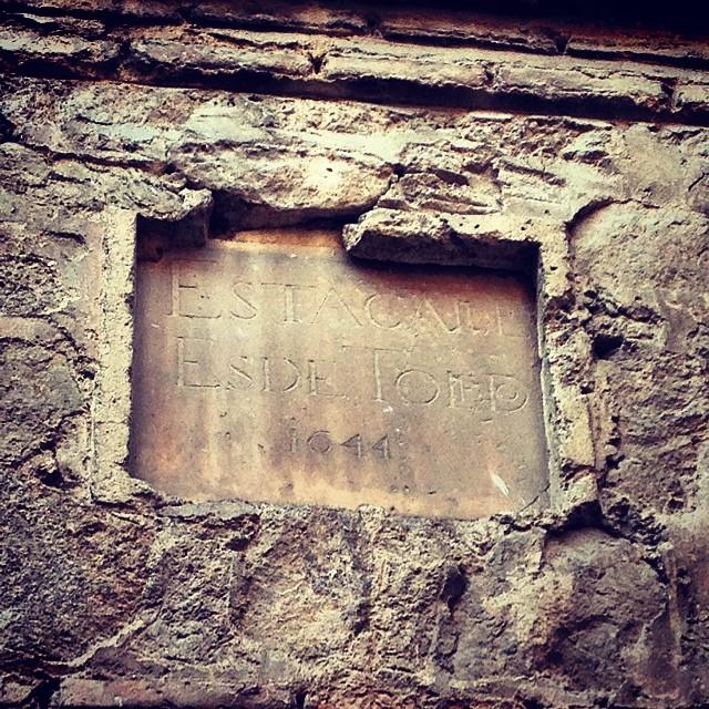 Esta calle es de #Toledo 1644. #rutasdetoledo