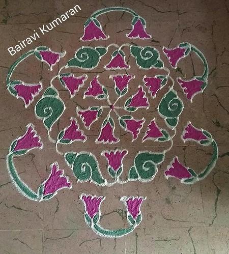 Pulli Kolangal Collections - Small kolam with dots ...