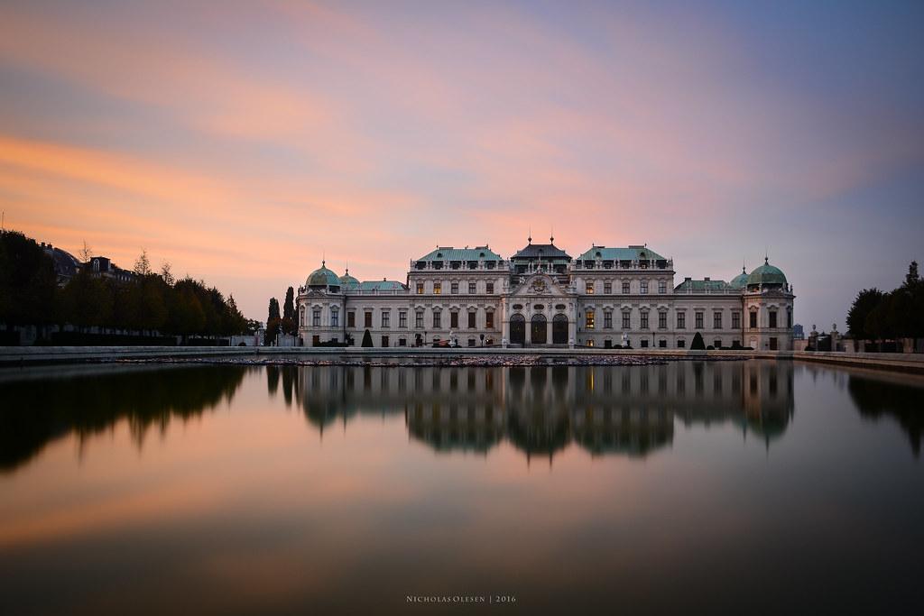 Vienna - Belvedere Sunset