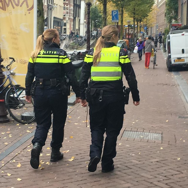 Amsterdam beat cops, rolling through the red light district, busting up crime. We easily plotted out an entire season's worth of storyline for these two.