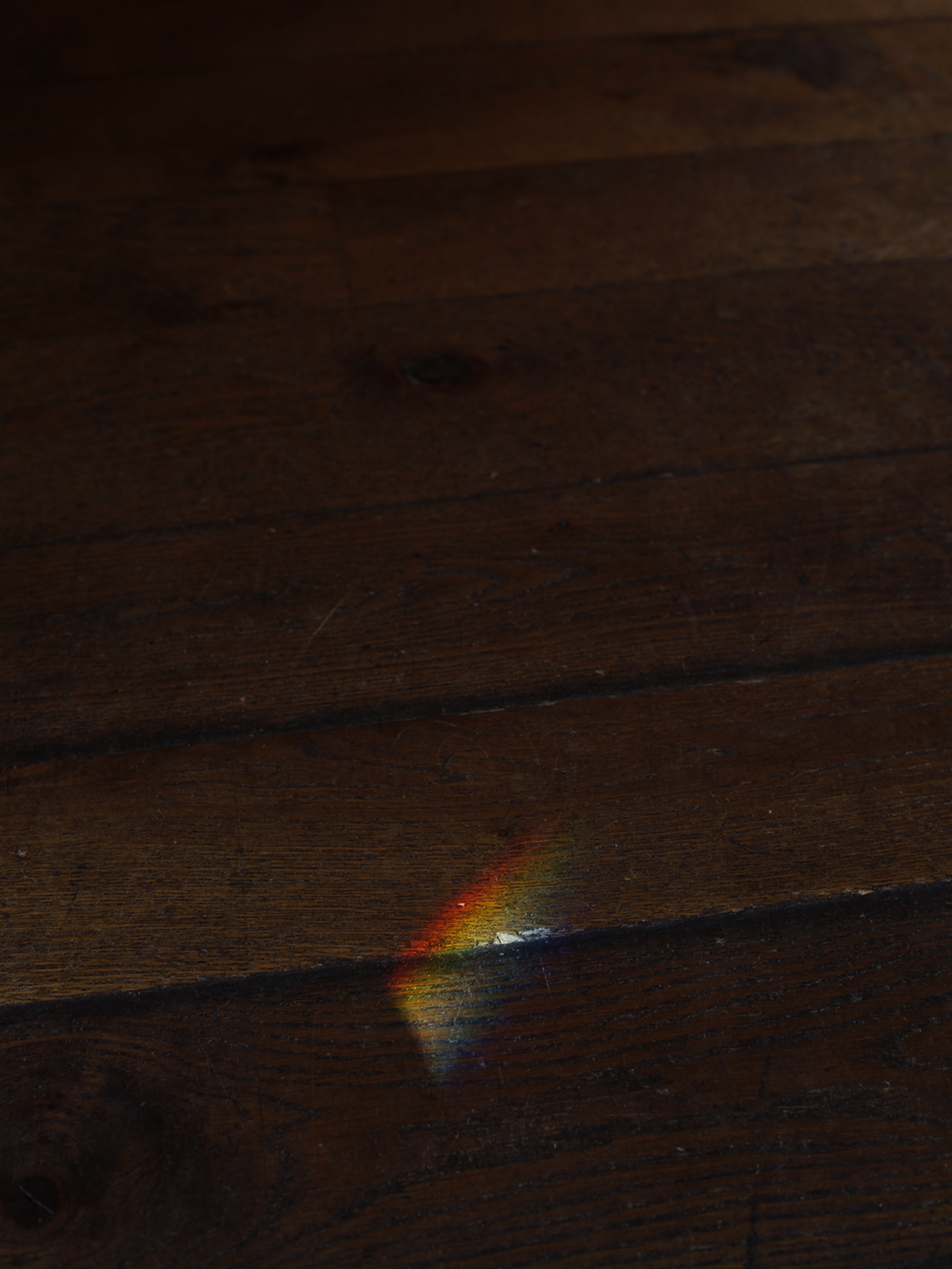 rainbow wooden floor
