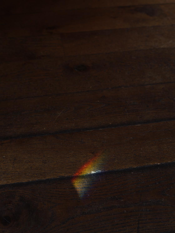 rainbow wooden floor