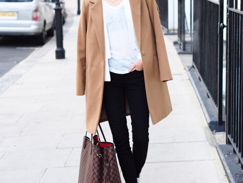 camel coat autumn outfit