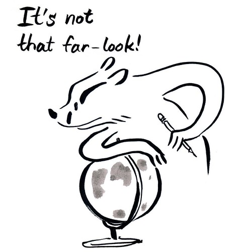 It's not that far - Badger for the last day of Inktober - Happy Halloween! :) #badger #badgerlog #inktober2016 #inktober #parenting #globe #parenting #itsnotthatfar