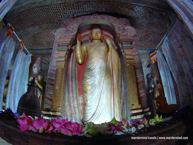 Big Statue of Buddha at Dambulla Cave Temple