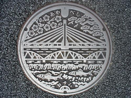 Ayabe Kyoto, manhole cover 3 (京都府綾部市のマンホール3)