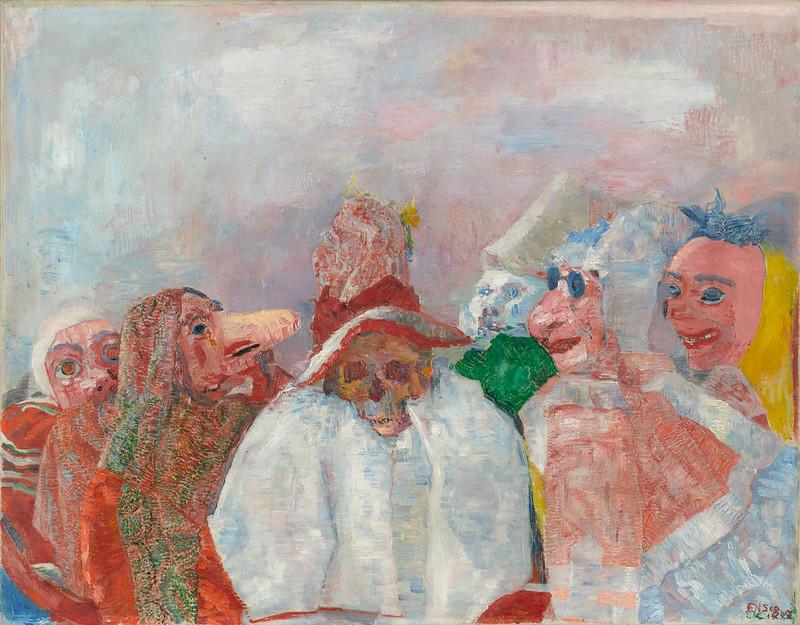James Ensor - Masks Confronting Death 1888