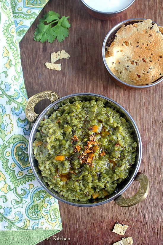 vegetable palak khichdi