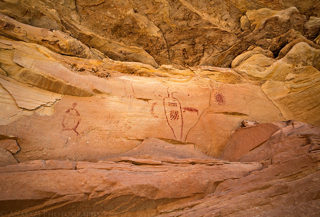 Bird & Sun Pictographs