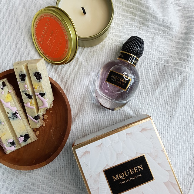 Hugo the scent for her and Alexander McQueen fragrance