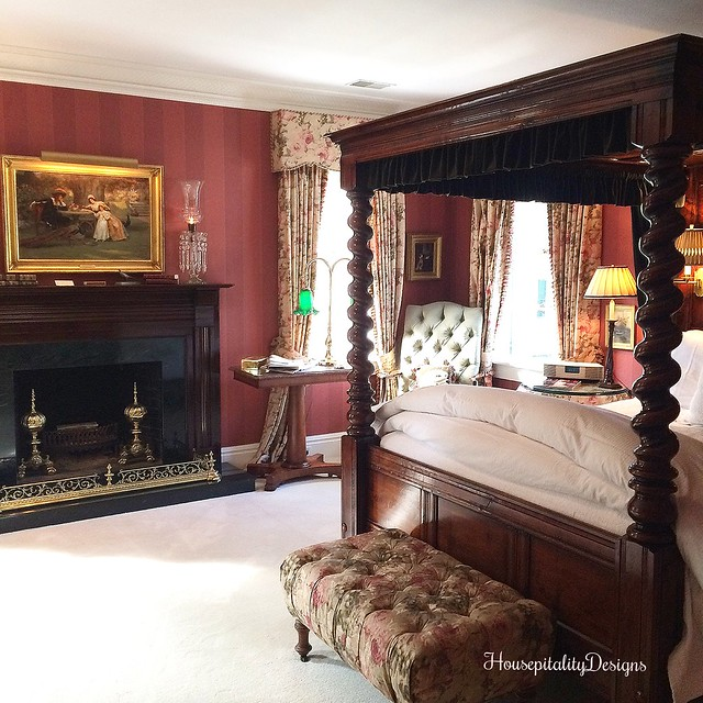 The Charlotte Inn - English Antiques - Barley Twist Bed - Housepitality Designs