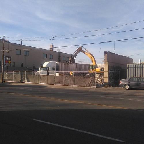 Demolition, Dupont between Dufferin and Bartlett #toronto #dovercourtvillage #dupontstreet #demolition