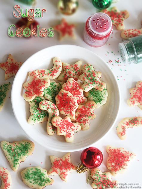 Sugar Cookies Recipe Easy Christmas Sugar Cookies Recipe Sharmis