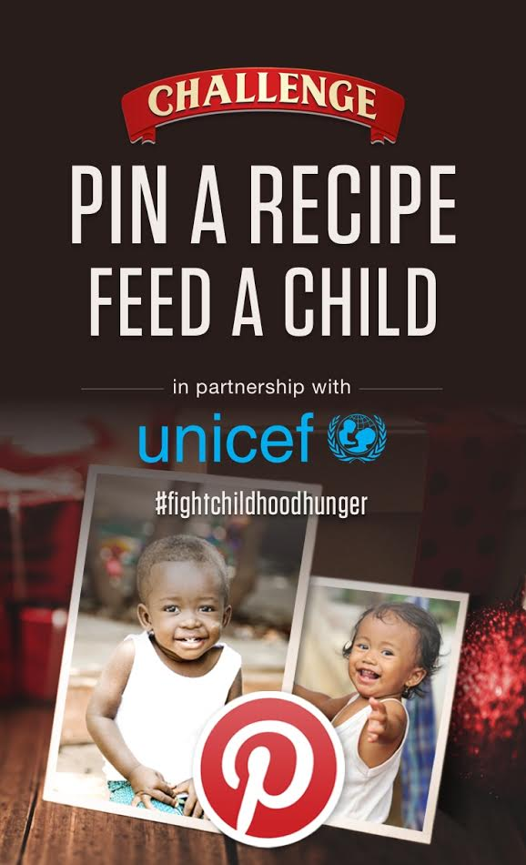 PIN A RECIPE TO FIGHT CHILDHOOD MALNUTRION