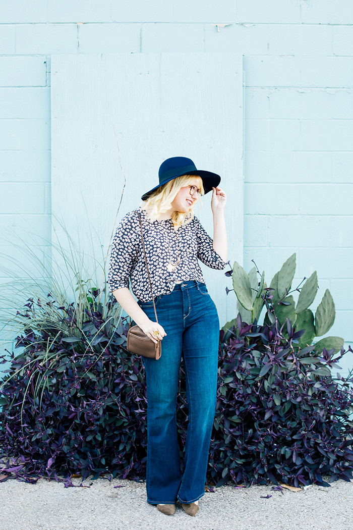 writes like a girl old navy bell bottoms navy brixton hat1
