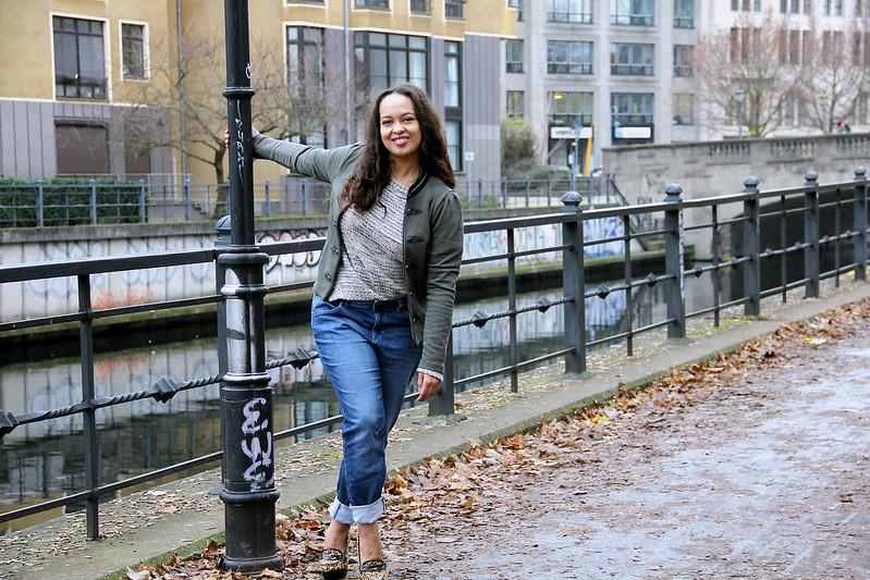 Vive Maria Trachtenjanker, C&A Boyfriend Jeans, Leo Pumps Buffalo, Promod Knit OOTD