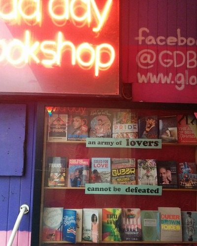 """an army of lovers cannot be defeated"" #toronto #lgbt #gladdaybookshop #yongestreet #books"