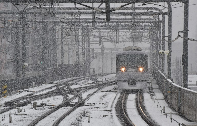 JAPAN-WEATHER-SNOW