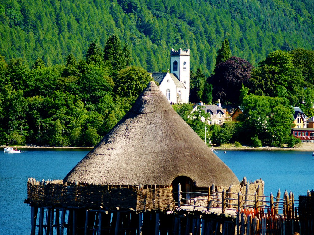 Crannog with Kemmore in background.