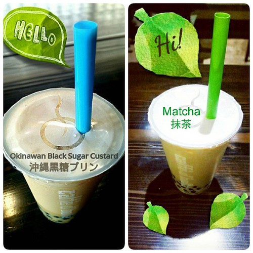 Your favorite Japanese bubble tea flavors are back! Come and have yummy Matcha or Okinawan Black Sugar Custard bubble milk teas today! ❤