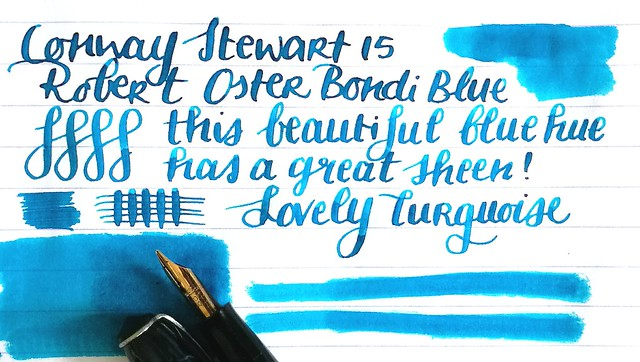 Conway Stewart with Bondi Blue