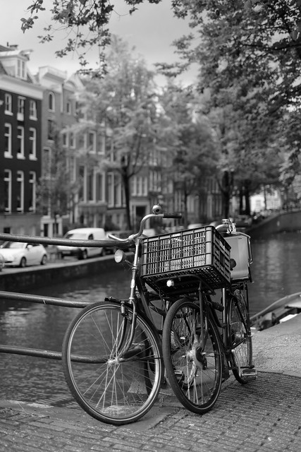 Bike at canal in Amsterdam 47