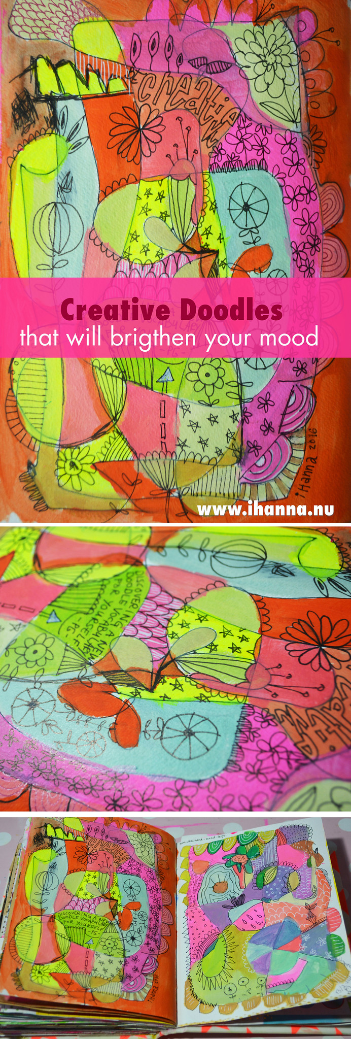 Inspired doodles from my beloved Creative Sketchbook- Art Journal pages by @ihanna