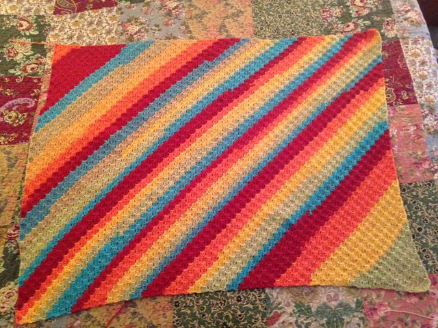 C2C Blanket with Caron Cakes Yarn