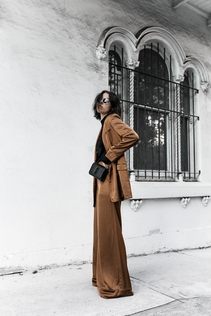 tan suit zimmermann fashion blogger street style inspo neutrals black modern legacy YSL chain bag (1 of 5)