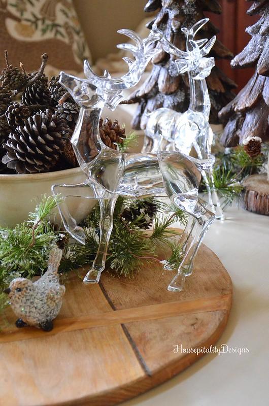 Woodland Christmas Vignette - Crystal Deer - Breadboard - Ironstone - Housepitality Designs