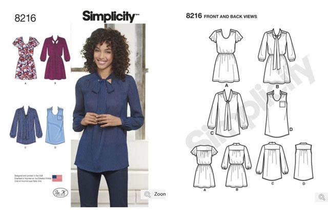 Simplicity 8216 blouse