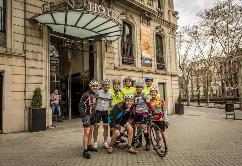 Barcelona roadbike breakaway