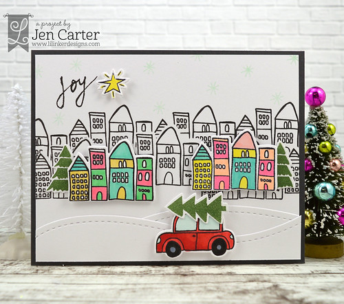 Jen Carter Rustic Christmas Joy Car wm