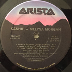 KASHIF+MELI'SA MORGAN:LOVE CHANGES(LABEL SIDE-B)