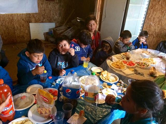 Reunión de niños Campamento por un futuro mejor III