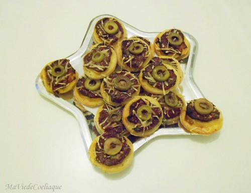 minis pizzas petits fours sans gluten