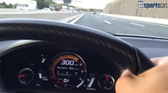 nsx 309 kmh