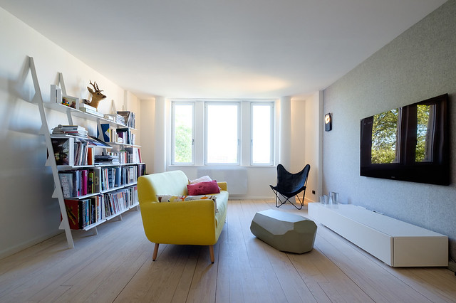 Attic interior by f+f architectes. Sundeno_11