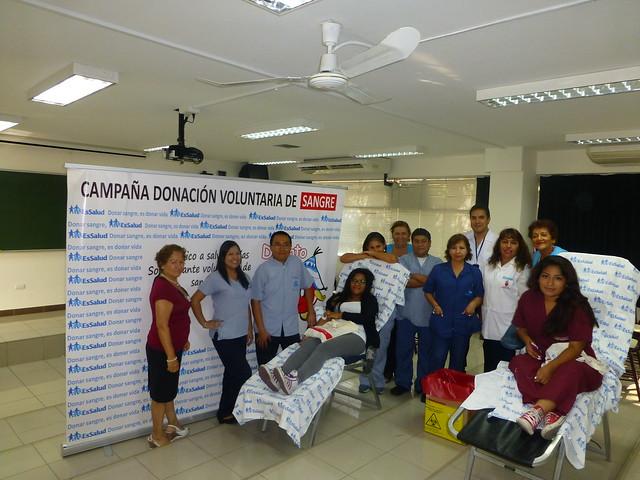 Donación voluntaria de sangre.