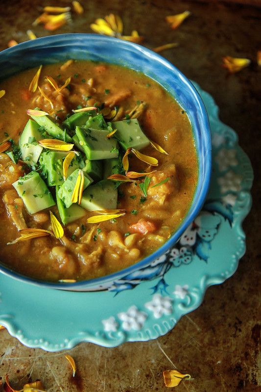 Pumpkin Chicken Chili from HeatherChristo.com (Dairy and Gluten Free)