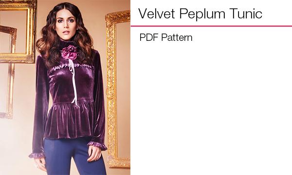 Velvet peplum tunic