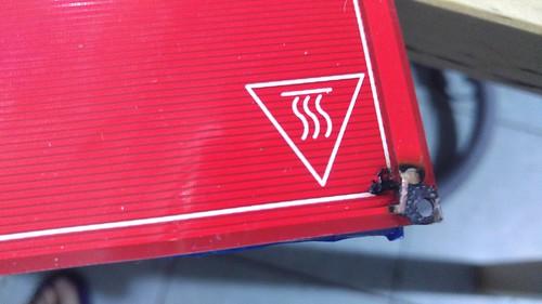 燒壞的熱床電路板