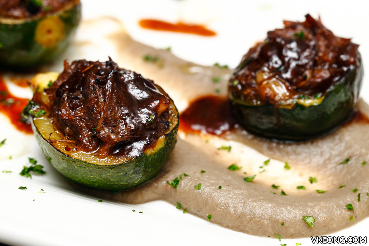 Jose Alonso Baby Zucchini with Oxtail Ragout