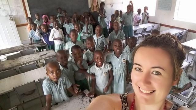 Happy kids @ SBM School with Tracy & Cathryn