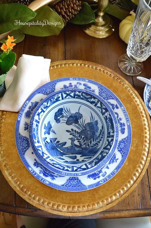 Blue and White Antique Noritake Dinnerware - Housepitality Designs