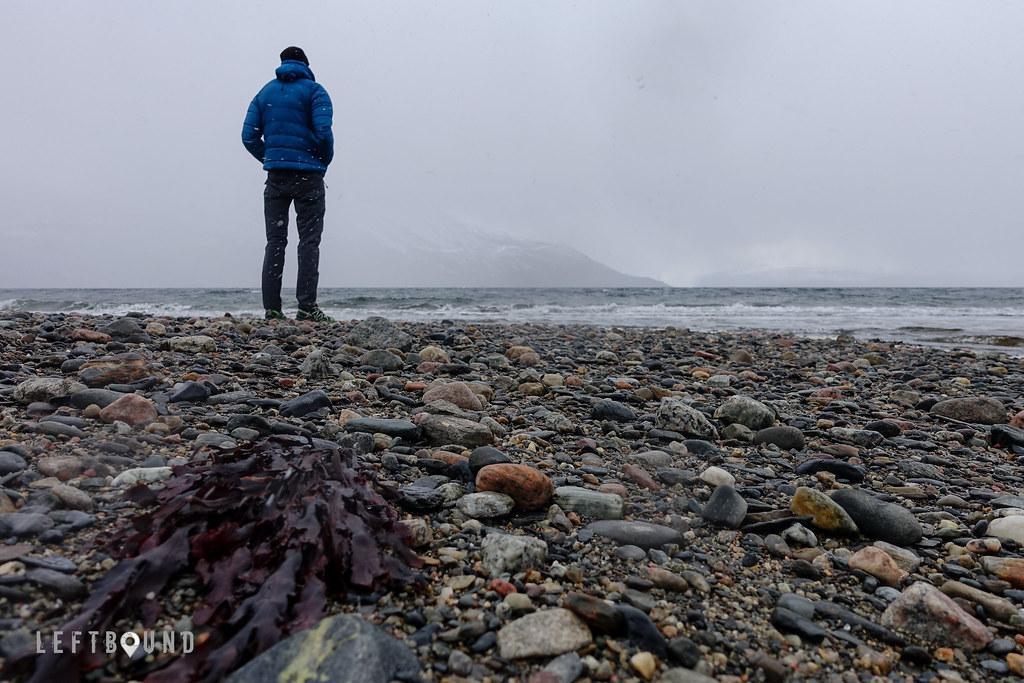 On the beach near Narvik