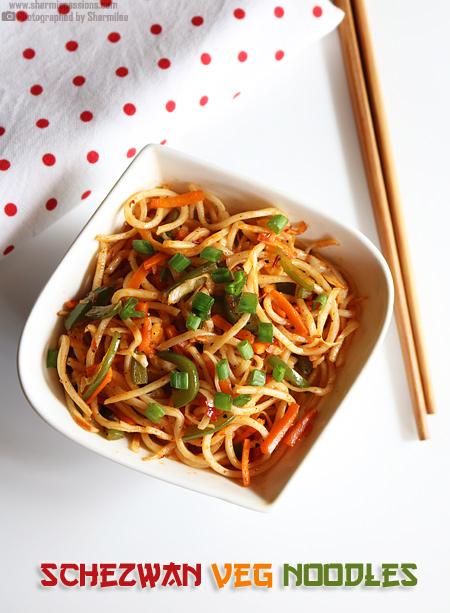 Schezwan Noodles Recipe