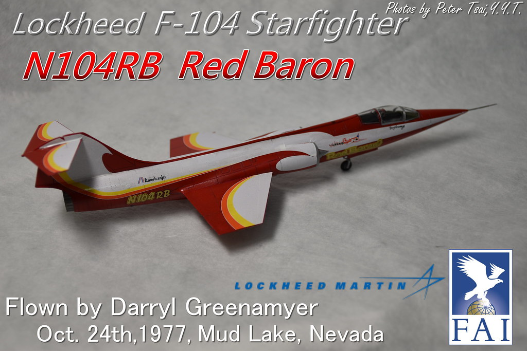 "1/72 F-104 ""N104RB"" Red Baron"