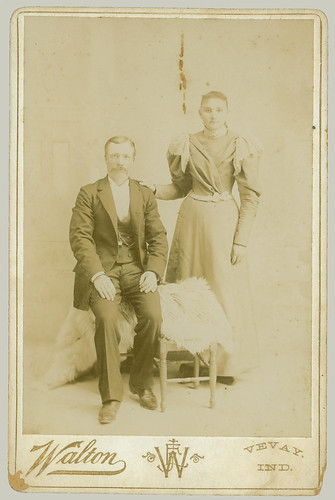 Cabinet Card couple