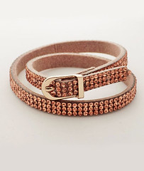 Lizzy O rose gold diamante wrap bracelet